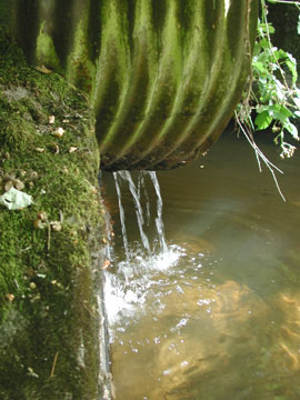 Stormwater outfall during dry weather conditions