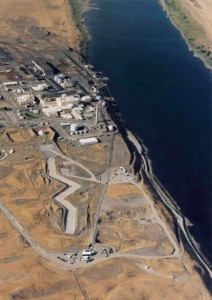 Arial view of Hanford Nuclear Reservation & Columbia River