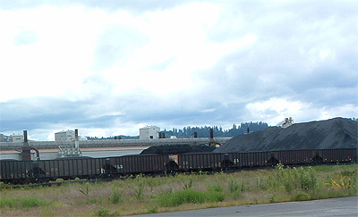 Train unloading coal at Millennium terminal in June 2011