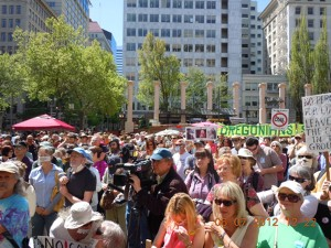 Power Past Coal Rally At Portland's Pioneer Courthouse Square 5-7-12