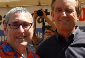 Dvija Bertish & Robert Kennedy Jr at Power Past Coal Rally, Portland, OR 5-7-12